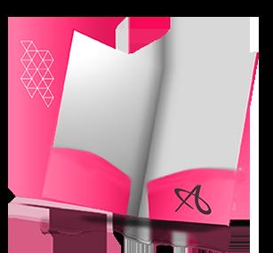 custom pockets for folder printing in lansing, mi | allegra, Presentation templates