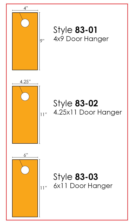 Wedding Door Hanger Templates for Download